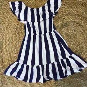 On Or Off Shoulder Striped Dress